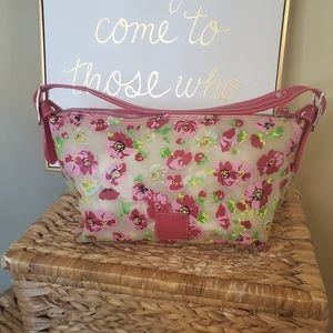 Liz Claiborne Floral Pink and Yellow Jelly Purse